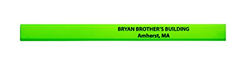 Pencil Guy Promotional Personalized Imprinted Neon Carpenter Pencils Neon Green 72 to a box