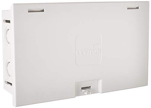 Leviton 47605-MDU MDU Compact Structured Media Enclosure with Cover, White