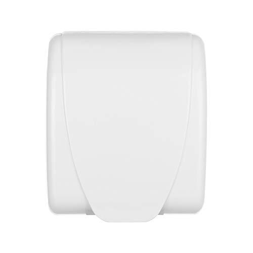 Transparente Niños Seguridad Impermeable Enchufes Salpicaduras Caja Eléctrica Cubierta Enchufe Protector (Blanco)