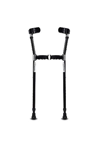 N\C 1 par de muletas para el antebrazo, Mango cómodo y Ajustable, Bastones Antideslizantes, Dos muletas de Apoyo para Caminar, Ayuda Ligera para Caminar QZQQ