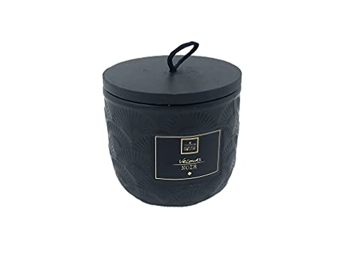 Ducomi Velas perfumadas en tarro de cristal – Idea regalo para tu casa – Perfume intenso y duradero (190 g, terciopelo negro)