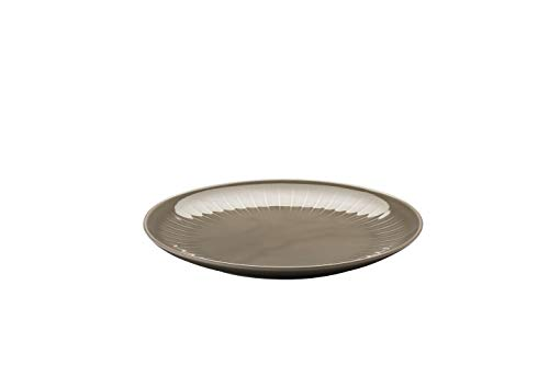 Arzberg Joyn Grey 24 cm bord plat, porselein, grijs, 25 x 25 x 7 cm