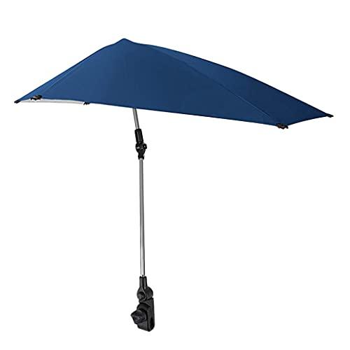 Sharplace Paraguas Ajustable UPF 50+ con Abrazadera Universal Parasol Plegable Toldo Sillón de Verano Golf Senderismo