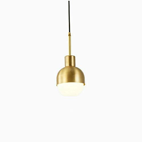 Plafondlamp met lampenkap, PVC, zuiver koper, effen kleur, voor slaapkamer, met 5 W LED-lamp, lichtbron: E27