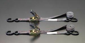 25mmx3.6m ベルト荷締機(ラチェット式/カモー2本組) EA982BA-11B