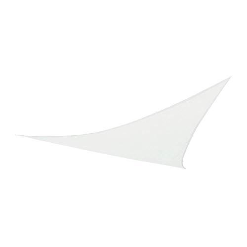 Aktive 61016 Toldo Vela Triangular con protección UV50, Blanco, 360 x 360 x 360 cm