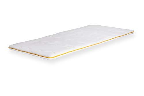 John Cotton - Topper voor matrassen en boxspringbed - 90x200 cm - Matrastopper als matras koudschuim topper met latex kern en viscose dubbele overtrek voor vochtbescherming
