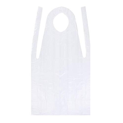 Artibest - Delantal desechable, 100 unidades, desechable, impermeable, delantal de plástico desechable, para hombres y mujeres