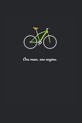 Fahrrad: Liniertes Fahrrad Notizbuch oder Rennrad Notizheft liniert - Mountainbike-Zeitschrift für Männer und Frauen mit Linien