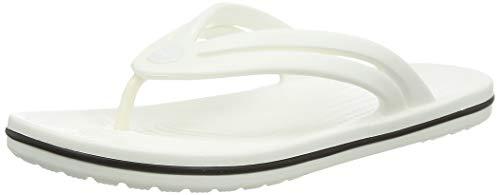 Crocs Crocband Flip W, Chanclas Mujer, White, 38/39 EU