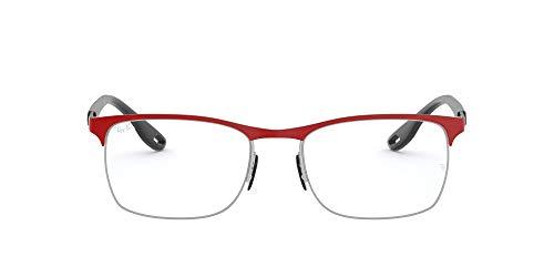 Ray-Ban 0rx8416m-f045-54 Gafas, MATTE RED FERRARI ON SILVER, 54 para Hombre