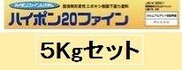 ニッペ ハイポン20ファイン 各色 (2液 油性 エポキシ 下塗剤 錆止め) グレー 5Kgセット