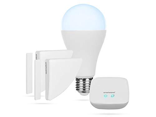 Smartwares Smart Home Pro | Funk Alarm Set inklusive Basistation, steuerbar via gratis HomeWizard Link App | Alexa kompatibel