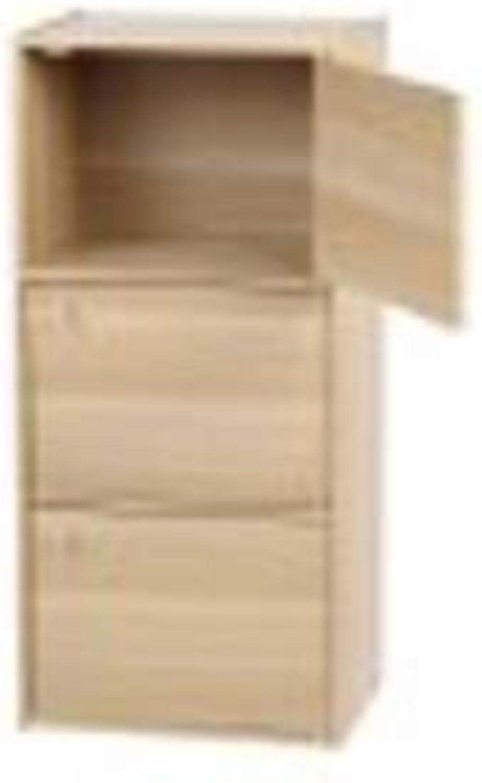 IRIS 3-Door Wood Storage Shelf, Natural