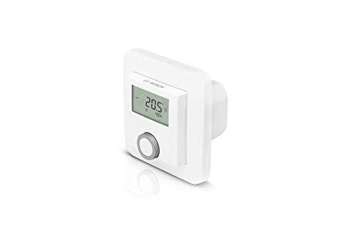 Bosch Smart Home Raumthermostat (für Fußbodenheizungen mit kabelgebundener Steuerung, 230 V, im Karton - kompatibel mit Google Assistant und Alexa)