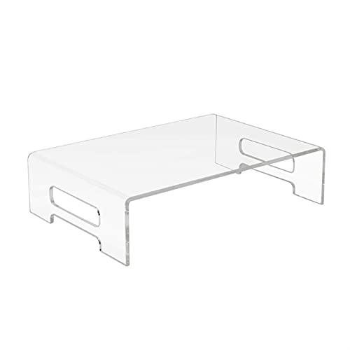 HXiaoF Cancella Monitor acrilica del banco Elegante Heavy-Duty Laptop Riser Shelf for Healthy Confortante casa o Ufficio Computing