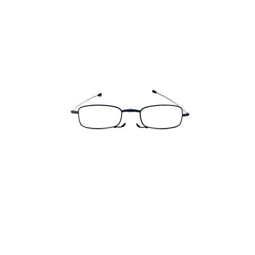 Z&HA Anti-blauwe leesbril, opvouwbare HD-lens, UV400 vermoeidheidsbestendige leesspiegel, 1,0 tot +4,5
