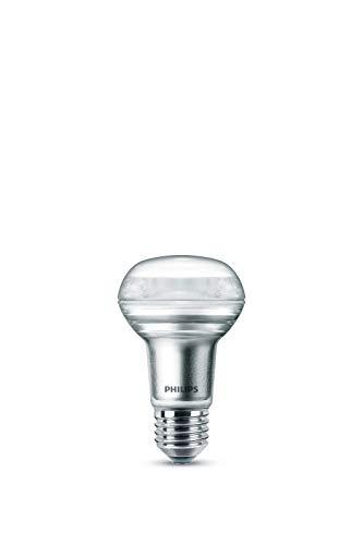 Philips LEDclassic Lampe, ersetzt 40W, E27, R63, Warmweiß (2700 Kelvin), 210 Lumen, Reflektor, klar, Silber