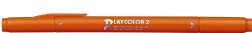 トンボ鉛筆 水性サインペン プレイカラー2 橙色 WS-TP28 【5本】