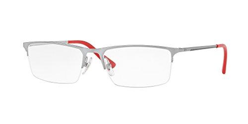 Ray-Ban Brillengestelle RX6391I Estuches para anteojos, Plata, 55.0 para Hombre