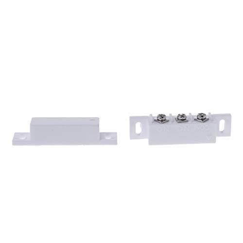 ZZALLL Interruptor de Contacto magnético, Sensor de Puerta, Sistema de Alarma de Puerta de persiana Enrollable de Metal con Cable