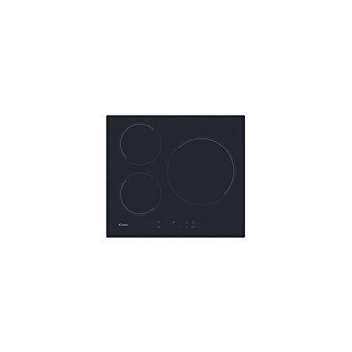 Plaque induction Candy CIB632C - 3 foyers - Puissance totale 6000 W - 9 niveaux de cuisson - Table de cuisson à touches sensitives