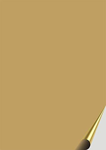 das-label DIN A4 Selbstklebende Vinylfolie Gold | Indoor matt | zum Basteln Scrapbook | Vinylfolie zum Einlegen in Plotter | Sticker | Aufleber | geeigent auch für Autoaufkleber | Markierungspunkte
