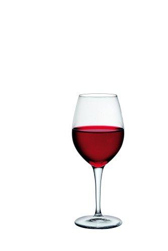 Bormioli - Bicchiere da Vino Trasparente Premium, Set da 6, Vetro, Trasparente, 29 cl