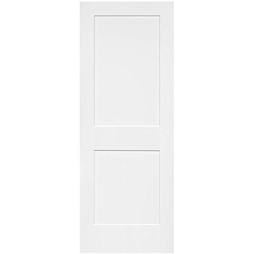 Snavely International 2-Panel Door, White Primed Shaker, Solid Wood Core