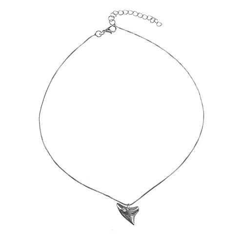ShSnnwrl Colgante Collares delicados de gargantillas de Dientes de Color Dorado para Mujer, Collar con Colgante de colmillo Minim