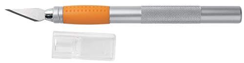 Fiskars Cúter de precisión, Longitud total: 15,9 cm, Acero de calidad Plástico, Plata Naranja, 1003885