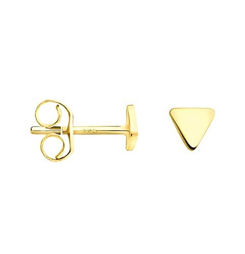 DIAMALA Pendientes para mujer de oro 375 (9 quilates), oro amarillo con diseño de triángulo - DI20011