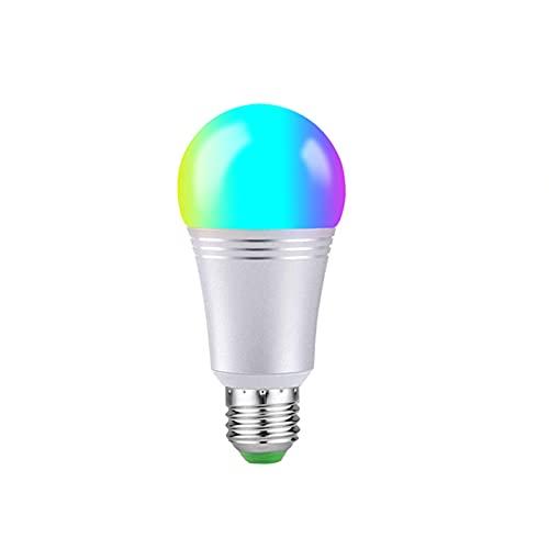 LCYZ Bombilla Inteligente LED WiFi, Bombillas Que Cambian Color 9W RGBW, Bombilla Control Voz Y Aplicación Multicolor E27 Regulable, Compatible con Alexa, Google Home (4 Pack)