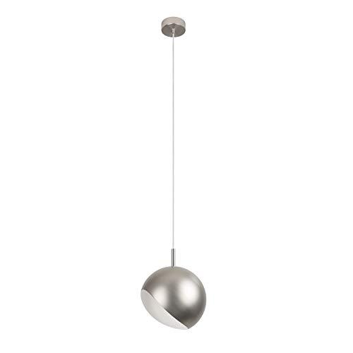 Moderne Retro Pendelleuchte Kugelform Brushed steel   LED 6-10 Watt   2 Größen