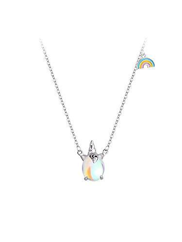 Regenbogen Einhorn Halskette Frauen