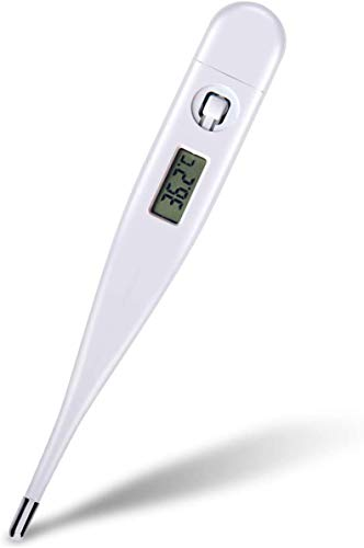 Digital Thermometers, High Precision Oral Mouth Thermometer for Adults and Baby with LCD Backlight