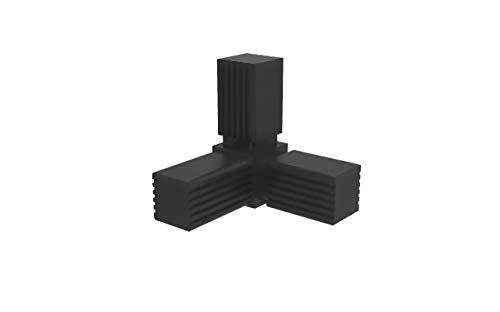 Conectores para tubos cuadrados (en Y) - 2 unidades / 30,00 x 30,00 (mm) (Sin ALMA de Acero)