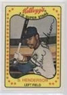 Steve Henderson (Baseball Card) 1981 Kellogg's 3-D Super Stars - [Base] #25