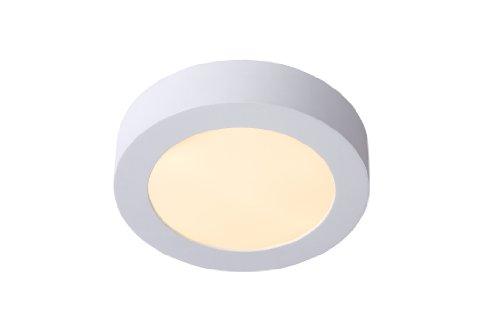 Lucide BRICE-LED - plafondlamp - Ø 18 cm - LED Dim. - 1x11W 3000K - IP40 - wit