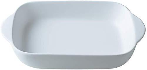 bianco Piccole Ceramica pirofila da forno Teglia Rettangolare,Rostiera/Lasagnera Casseruole da forno