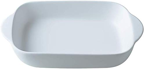 blanc Petits plat four rectangulaire en céramique pour four-plat à gratin/lasagn-23x 12,5 cm(550ML)