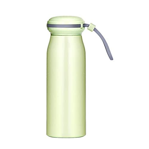 Mosako - Botella de agua de acero inoxidable 304 con doble pared, termo para bebidas calientes y frías, botella de deporte sin BPA, 360 ml (verde)