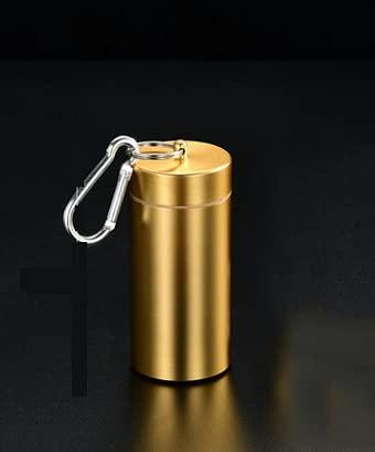 XIAOXIA Tabakfass Tee Caddy Zerkleinertes Tabakröhrchen 20 Stück Metall Zigarettenetui Außengewinde Mit Dichtungsgummi Ring Wasserdicht