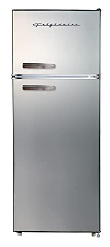 Frigidaire EFR753-PLATINUM EFR753, 2 Door Apartment Size Refrigerator with Freezer, Retro...