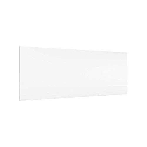 Bilderwelten Paraschizzi in Vetro - Polarweiss - Panoramico, Paraschizzi Cucina Pannello paraschizzi Cucina paraspruzzi per Piano Cottura Pannello per Parete Cucina, Misura (AxL): 40cm x 100cm