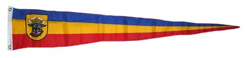 Langwimpel Mecklenburg Ochsenkopf 30 x 150 cm Fahne Flagge