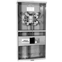 Milbank U3499-XL-100 1 Phase Ringless Meter Socket 4 Jaw 1 Position 100 Amp
