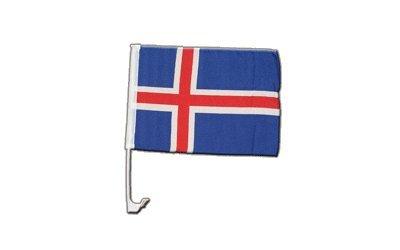 Digni Drapeau de Voiture Islande - 30 x 40 cm