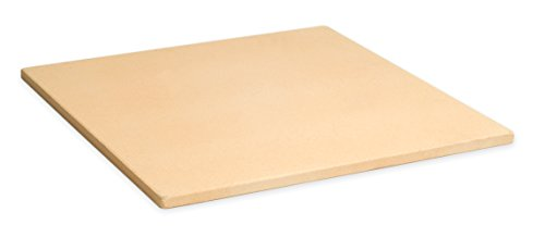 Pizzacraft 15quot Square ThermaBond Baking/Pizza Stone  For Oven or Grill  PC9897
