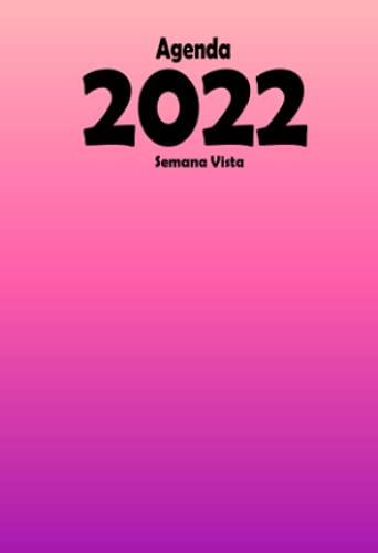 Agenda 2022 semana vista: A6 calendario ANUAL 2022 – español   Rosa   12 meses   diaria y mensual ,Planificador bolsillo